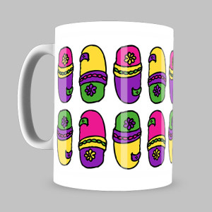 chappal pattern coffee mug