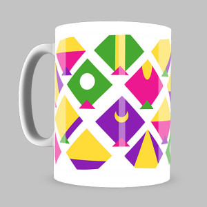 Eight Kites Coffee Mugs