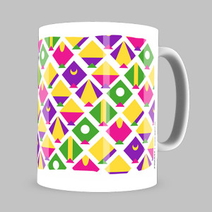 Small Kite Pattern Coffee Mug