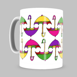 Colourful Umbrella Coffee Mug